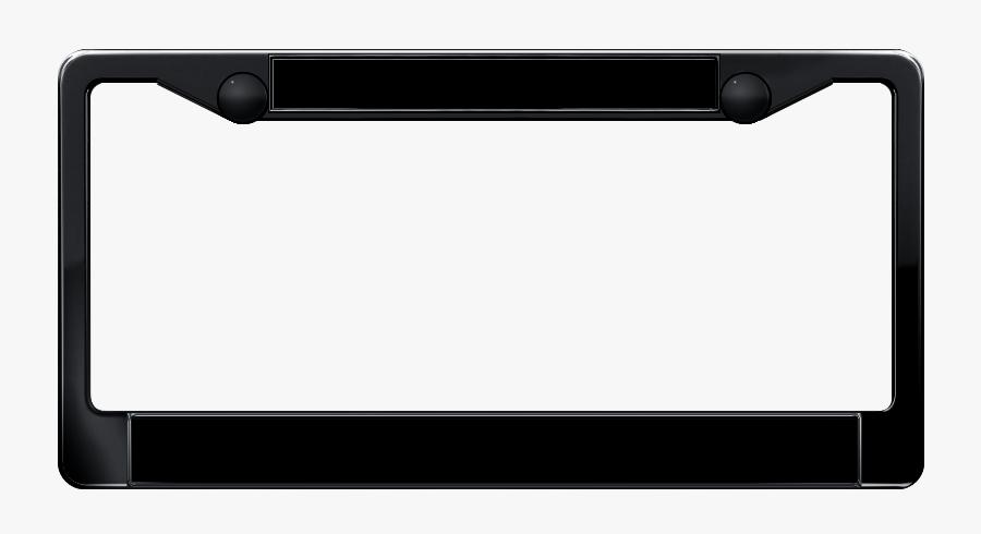 Black License Plate Frame, Transparent Clipart