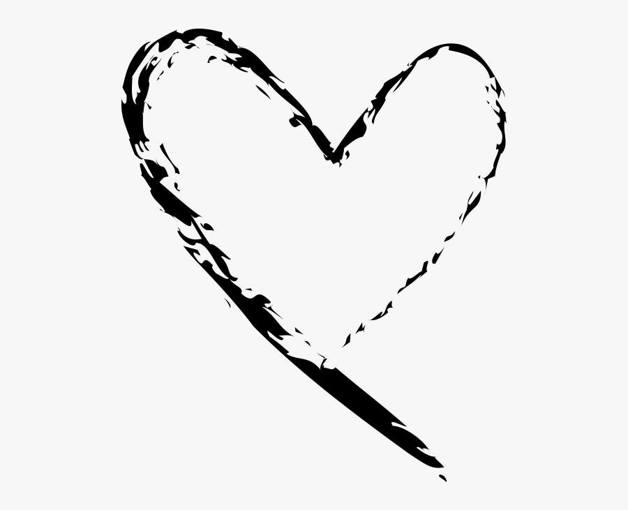 Hand Drawn Heart - Hand Drawn Heart Png, Transparent Clipart