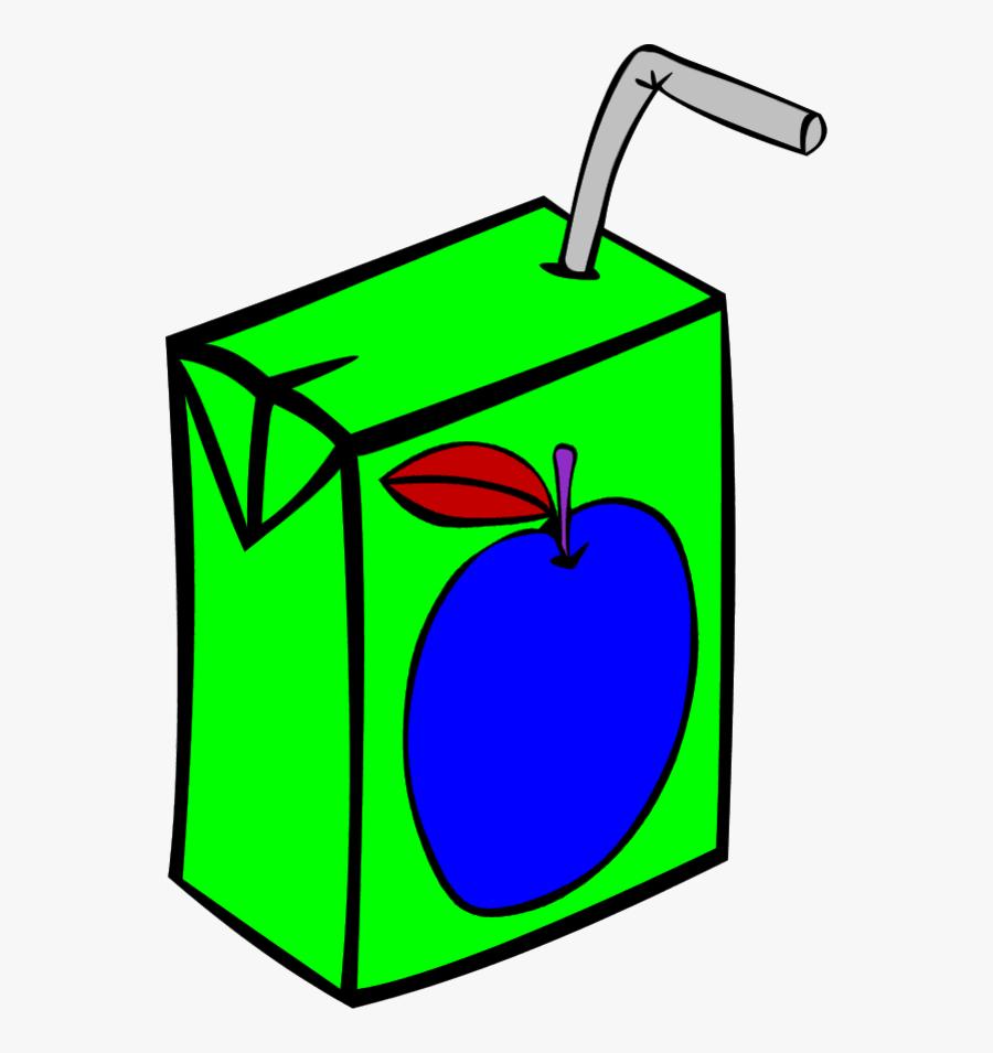 Vector Clip Art - Juice Box, Transparent Clipart
