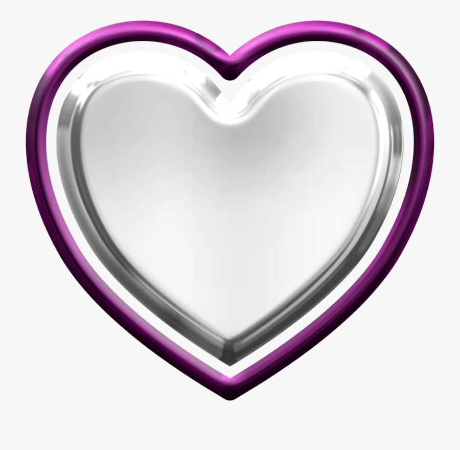 Artsy Bee Digital Images - Silver Metallic Heart Png, Transparent Clipart