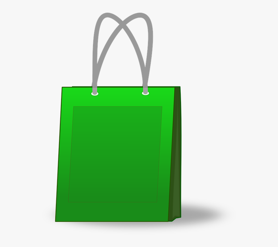 Bag, Shop, Shopping, Bazaar, Mall, Materials, Green - Green Shopping Bag Clipart, Transparent Clipart
