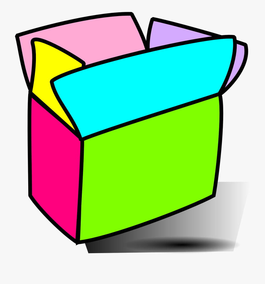 Box, Colorful, Open, Empty - Colorful Box Png, Transparent Clipart