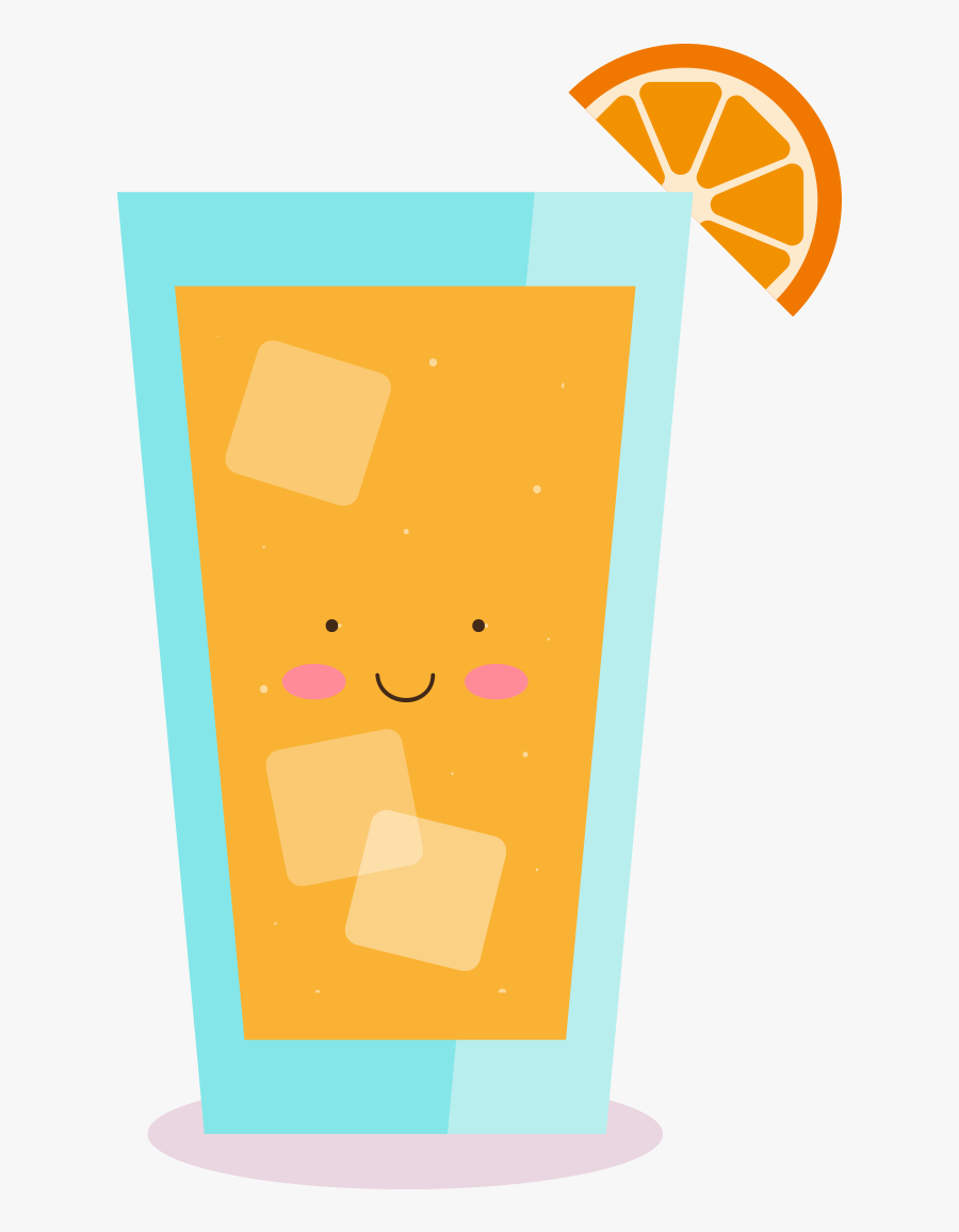 Clip Art Drink Yellow In The - Cartoon Cup Of Juice, Transparent Clipart