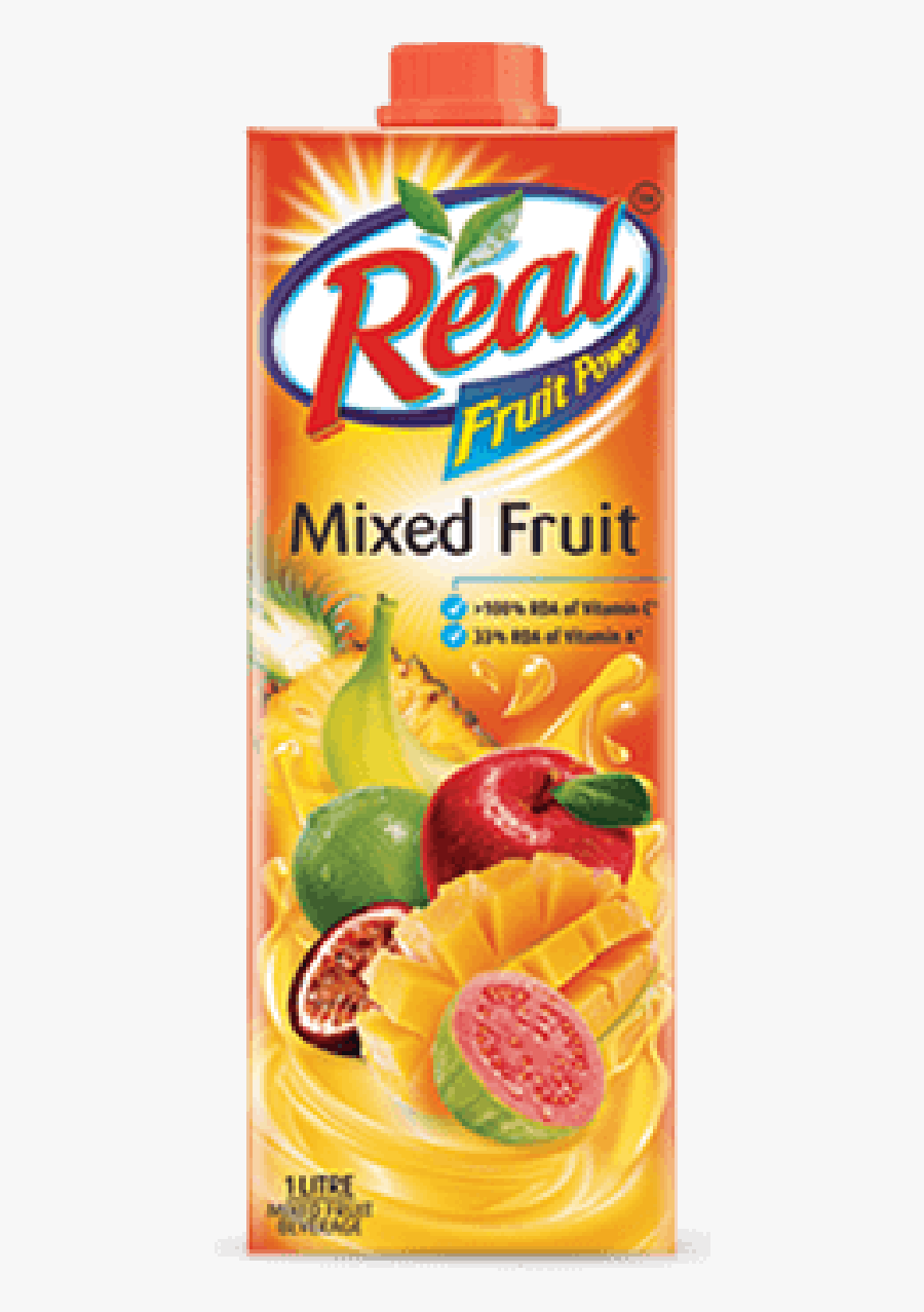 Real Mixed Fruit Juice 1l, Transparent Clipart