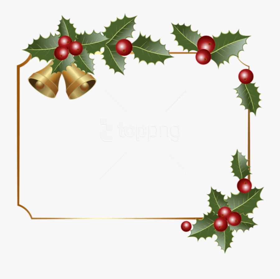 Christmas Boarder Christmas Border Decor With Bells - Transparent Christmas Border Clip Art, Transparent Clipart