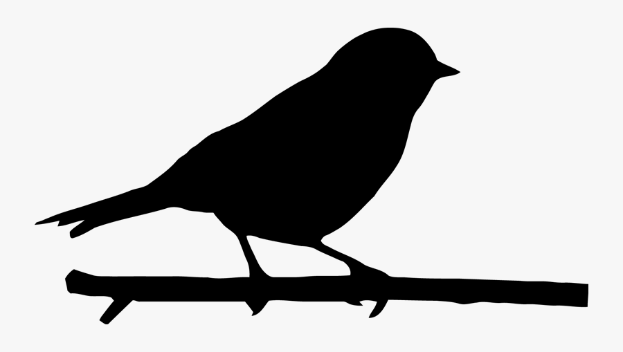 Bird Png Download - Bird On Branch Silhouette Png, Transparent Clipart