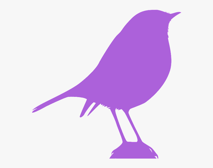 Bird Silhouette Red, Transparent Clipart