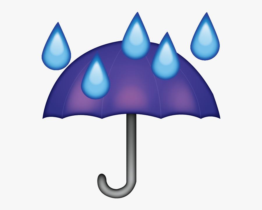 Umbrella Rain Clipart - Umbrella Rain Emoji, Transparent Clipart