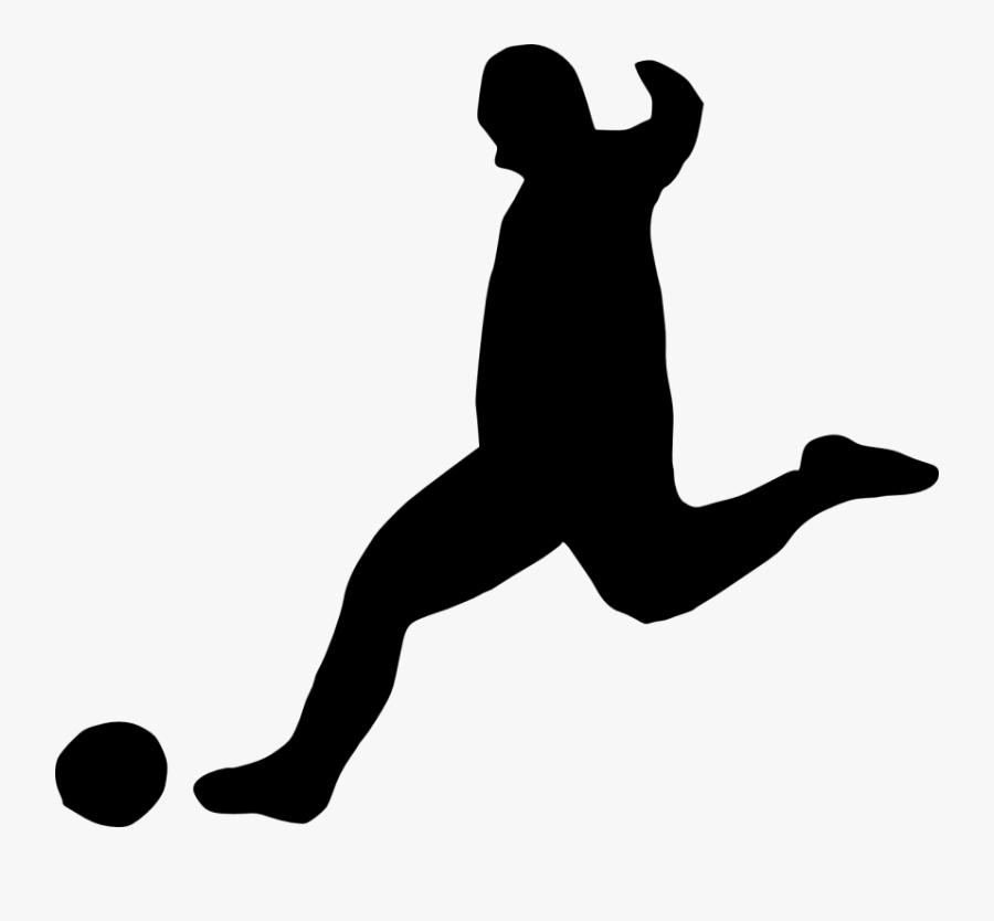 Football Player Running Clipart - Silhouette Football Transparent Background, Transparent Clipart