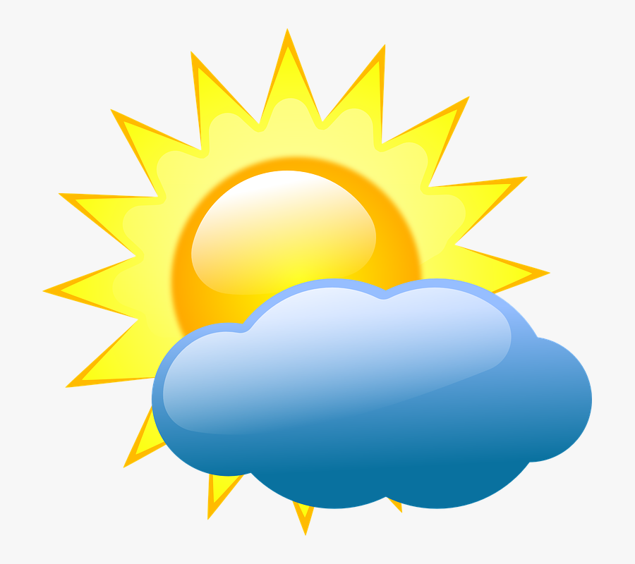 Weather Symbols Partly Cloudy, Transparent Clipart