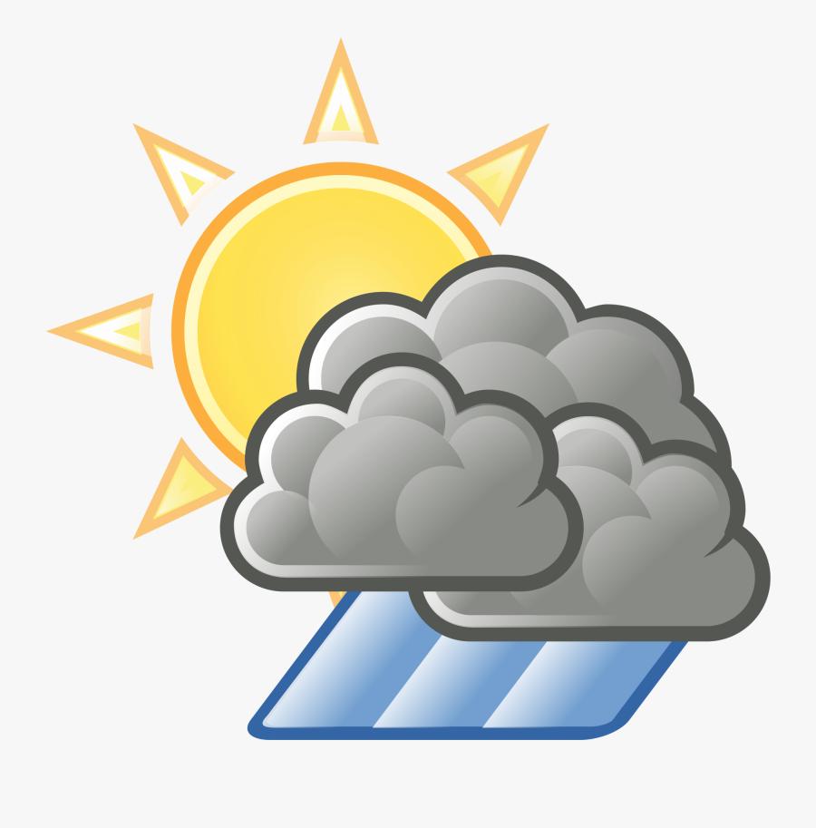 Sun Cloud Rain Clipart - Rain Cloud Transparent Background, Transparent Clipart