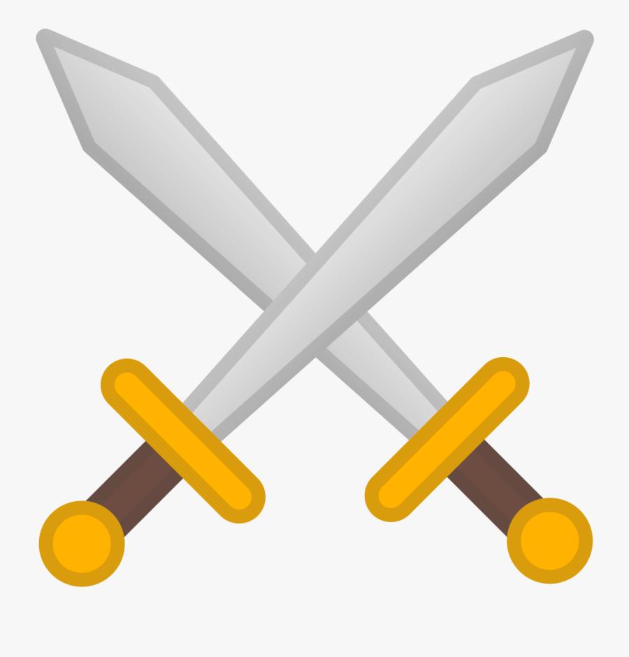 Transparent Sword Clipart Png - Crossed Swords Icon, Transparent Clipart