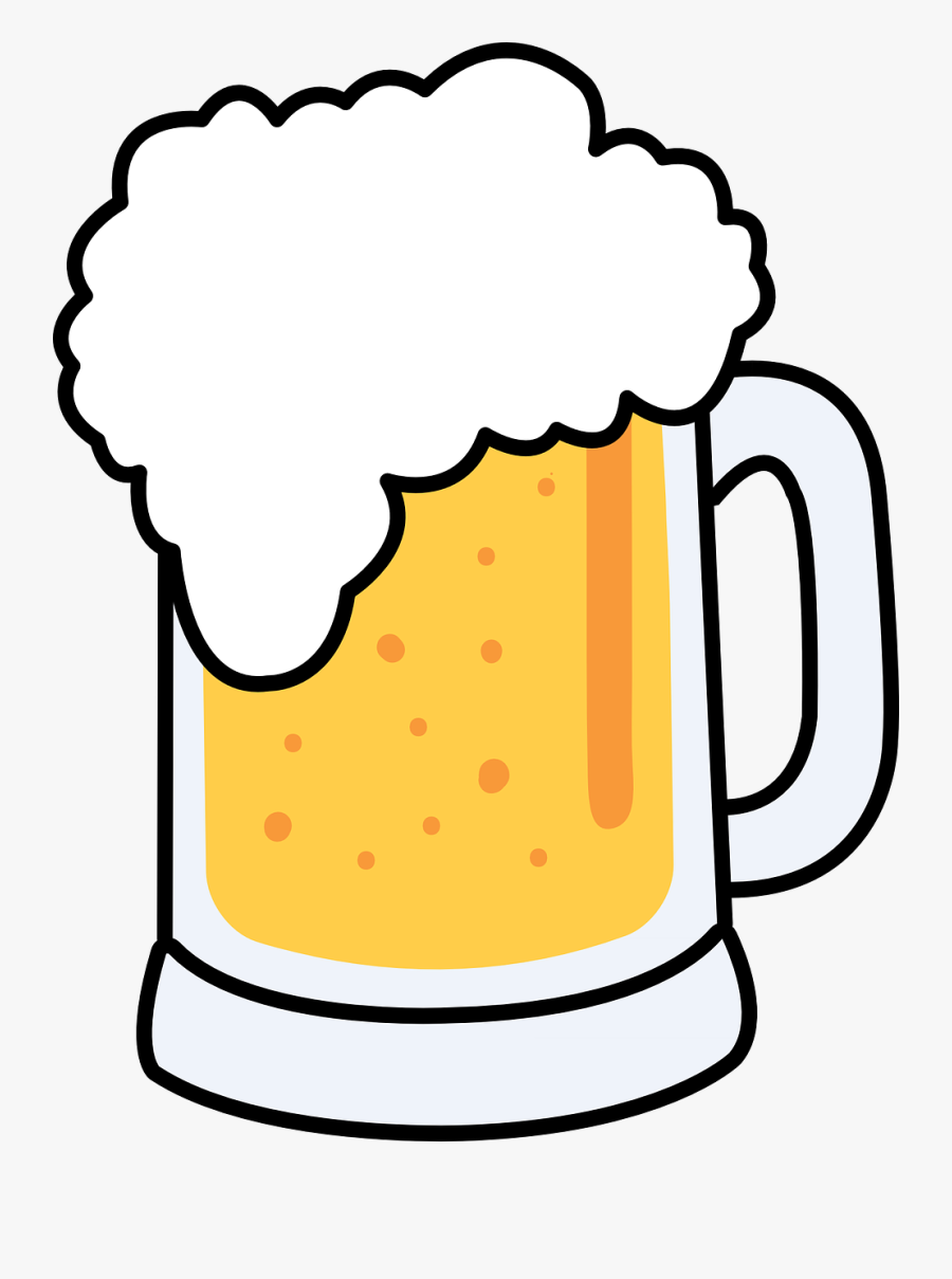 Beer - Clipart - Beer Mug Clip Art, Transparent Clipart