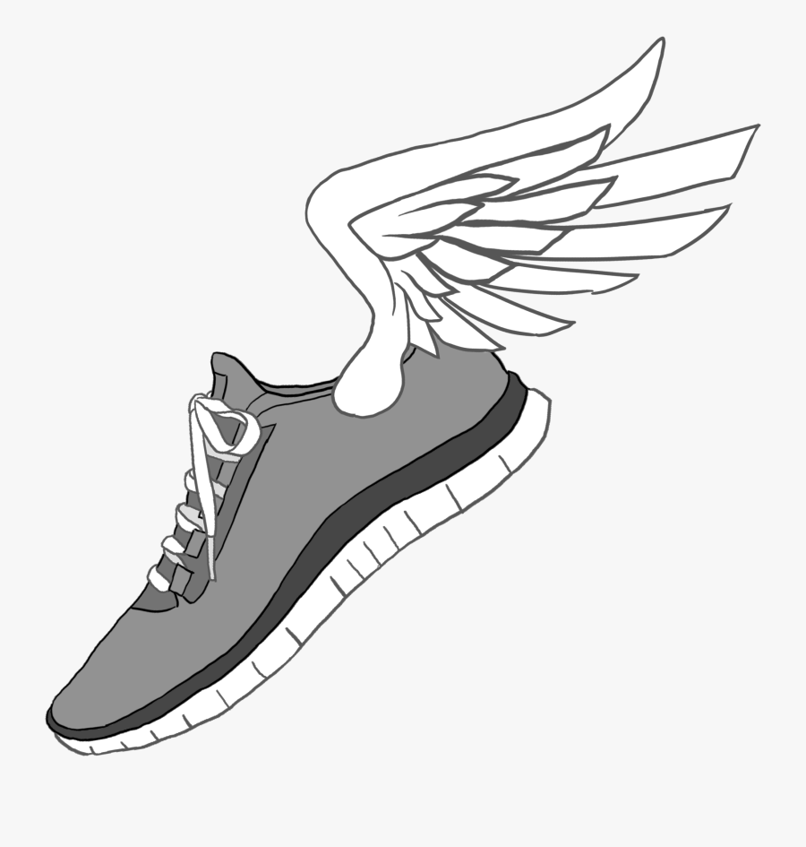 Vector And Jordan Tennis Shoe Clipart With Transparent - Drawings Of Running Shoes, Transparent Clipart