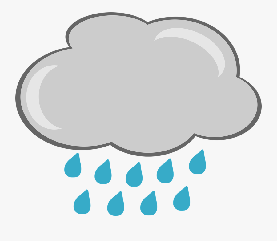 Cartoon Rain Cloud Png, Transparent Clipart