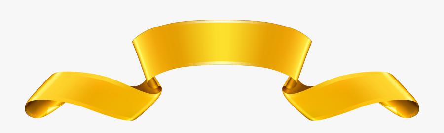 Yellow Ribbon Clipart Yellow Ribbon Award Clipart Csp - Gold Ribbon Banner Clip Art, Transparent Clipart