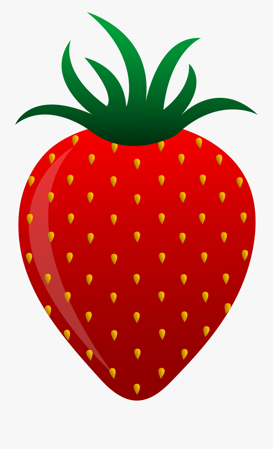 Red Strawberry Vector Art - Strawberry Clipart, Transparent Clipart