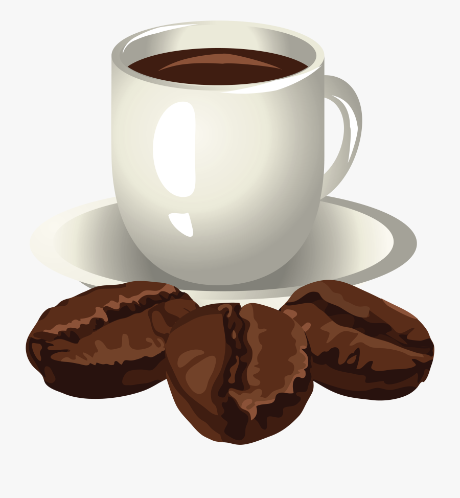 Coffee And Coffee Beans Clipart, Transparent Clipart