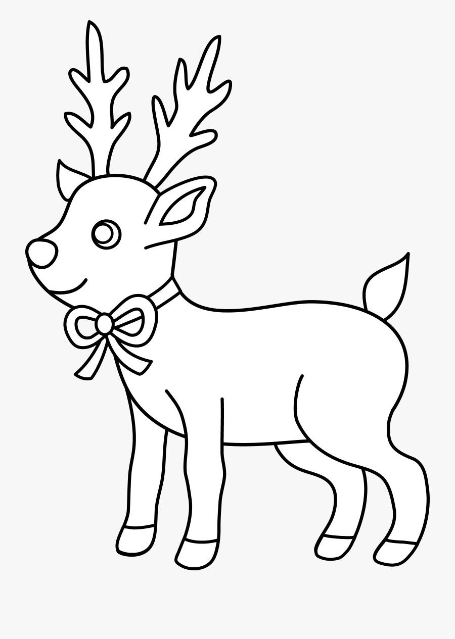 Christmas Reindeer Coloring Pages | 1265x900
