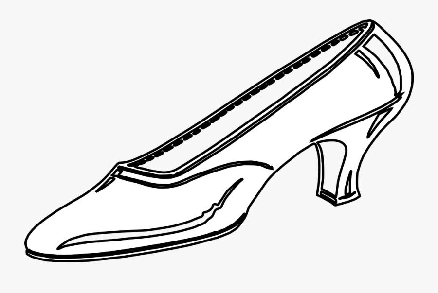 Clip Art Shoe Image Library - Black And White Clip Art Shoe, Transparent Clipart