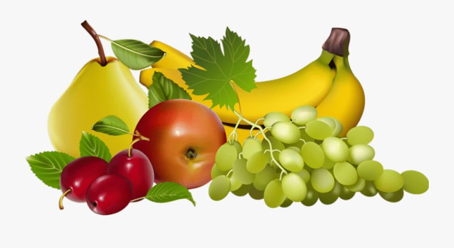 Basket Clipart Fruit - Fruits Clipart Transparent Background, Transparent Clipart