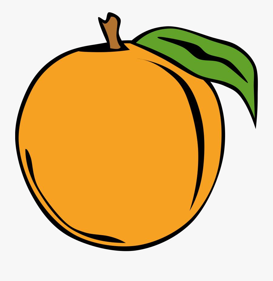 Simple Fruit Peach Clipart, Vector Clip Art Online, - Apricot Clipart, Transparent Clipart
