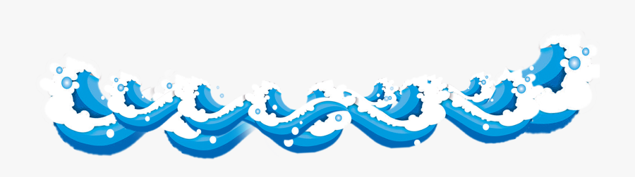 Sea Cartoon Wind Wave Free Download Image Clipart - Waves Hd Cartoon Png, Transparent Clipart