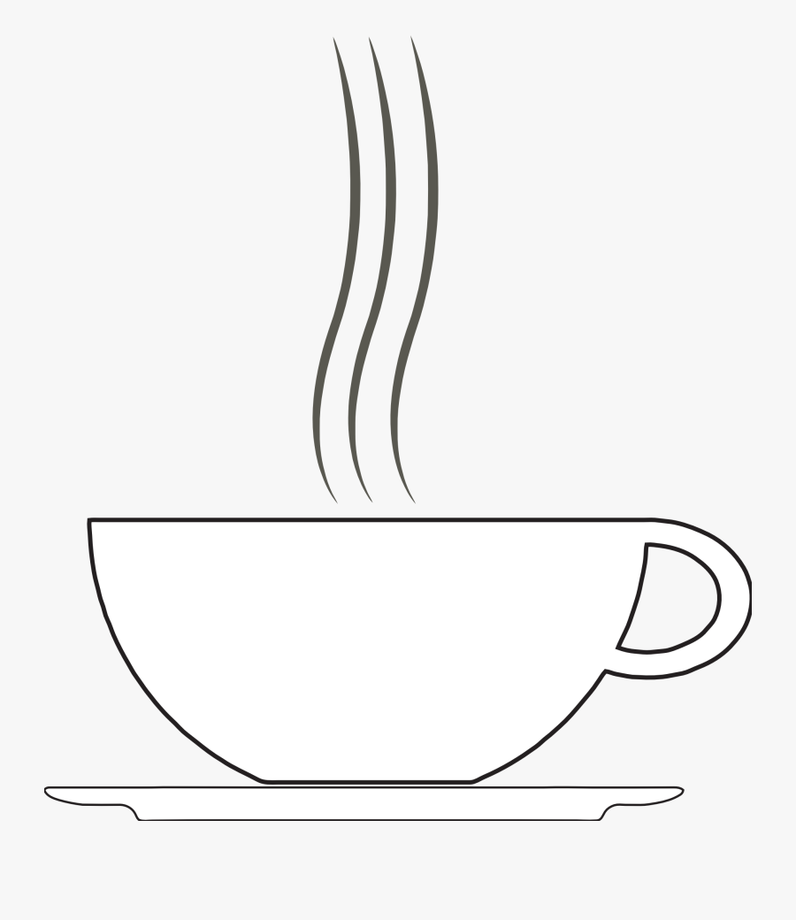 Clip Art Tikigiki Misc Coffee Cup Squiggly Svg Clipart - Coffee Cup Clipart White, Transparent Clipart