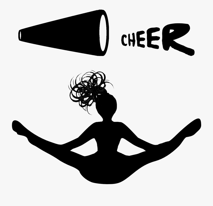 Transparent Yoga Clipart Black And White Transparent Background Cheerleader Logo Free Transparent Clipart Clipartkey