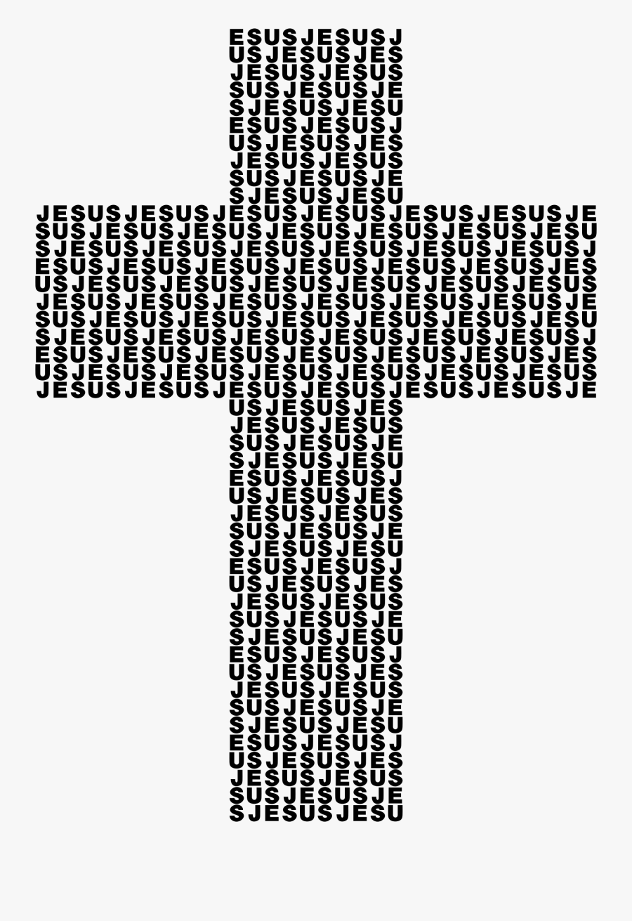 Clip Library Download Jesus Cross Clipart Typography - Cross Made Out Of Squares, Transparent Clipart