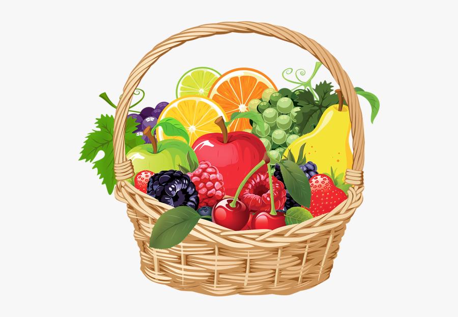 , , , , - Fruit Basket Vector Png, Transparent Clipart