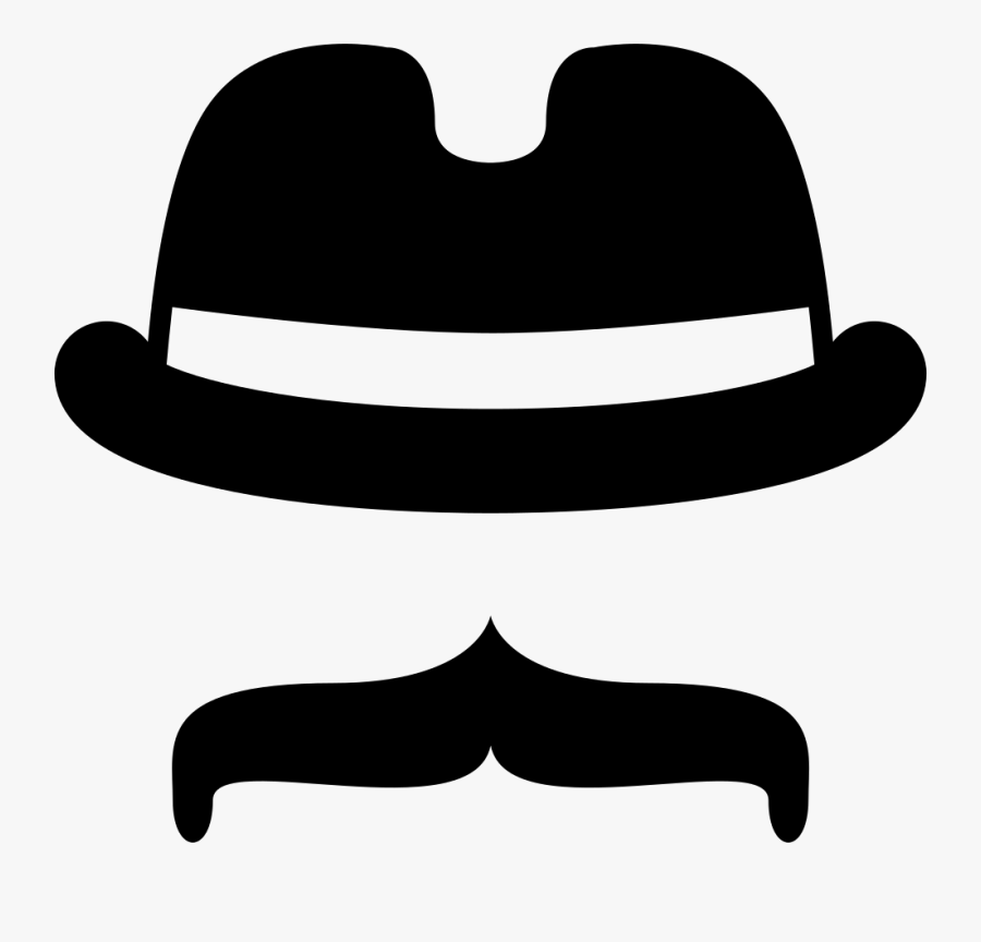 Mustache Svg Hat With Mustache Svg Png Icon Free Download - Mustache Black And White, Transparent Clipart