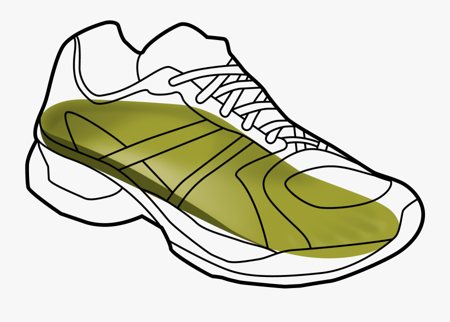 Running Shoe Drawing At Getdrawings - Shoe, Transparent Clipart