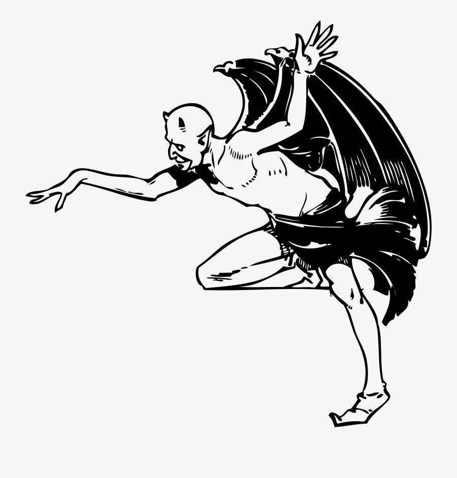 Halloween Dance Clipart Black And White Devil Free Transparent Clipart Clipartkey