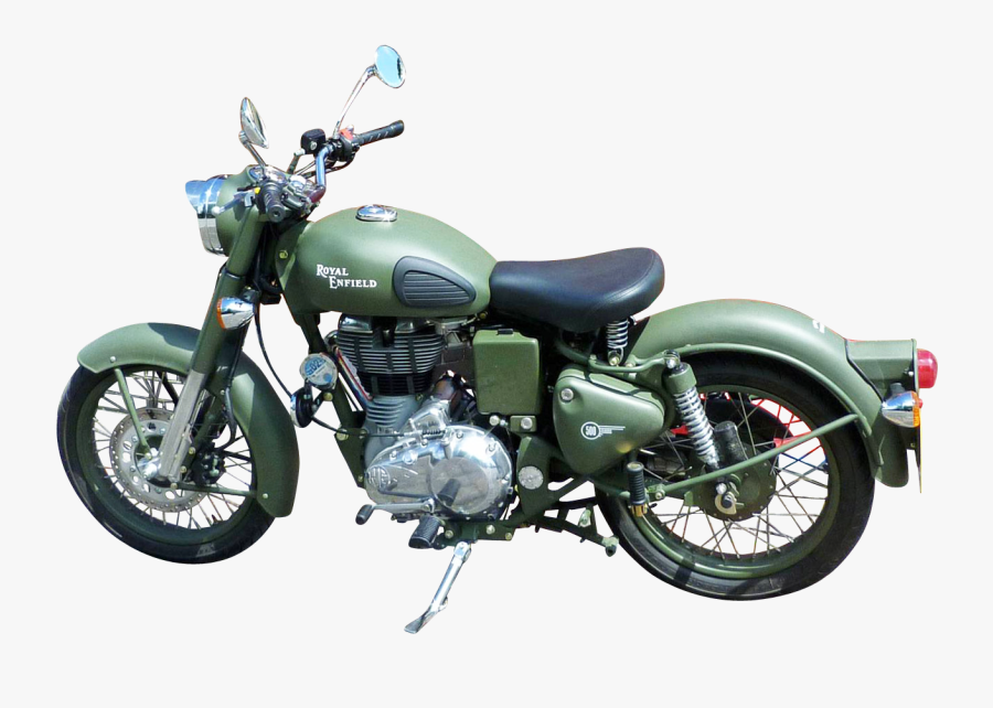 Motorcycle Clipart Bullet Bike - Royal Enfield Classic 350 Battle Green, Transparent Clipart