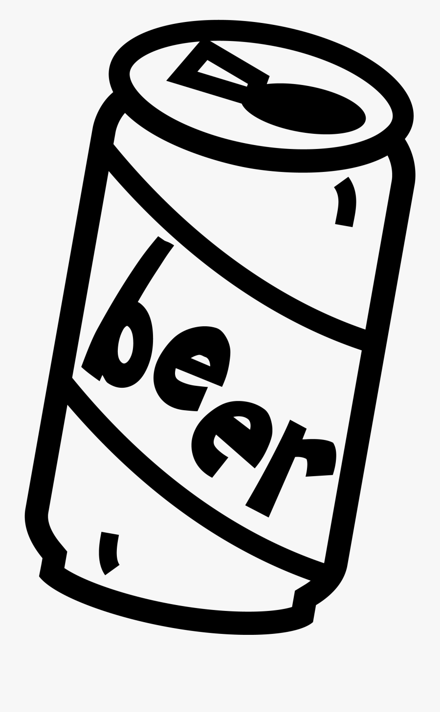 Beer Clipart - Easy Beer Bottle Drawing, Transparent Clipart