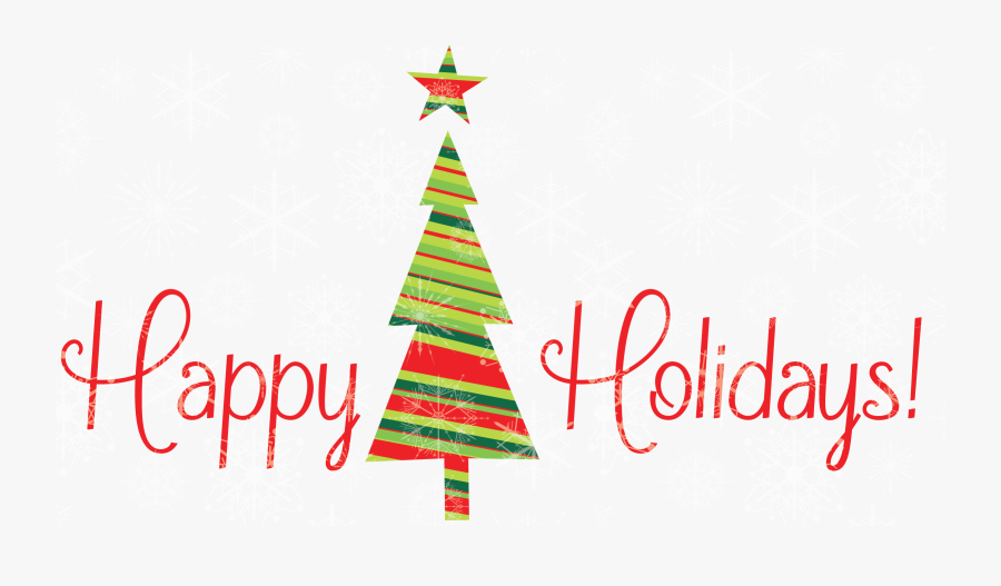 Christmas Tree Happy Holidays, Transparent Clipart