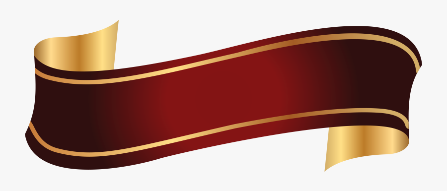 Ribbon Clipart Beige - Red And Gold Banner, Transparent Clipart