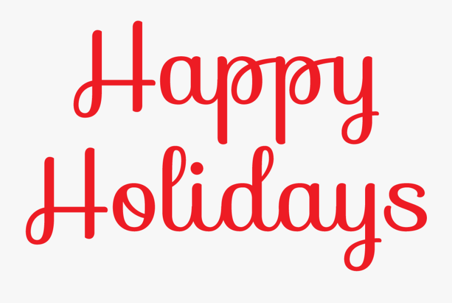 Happy Clip Art Free - Happy Holidays Clip Art Png, Transparent Clipart