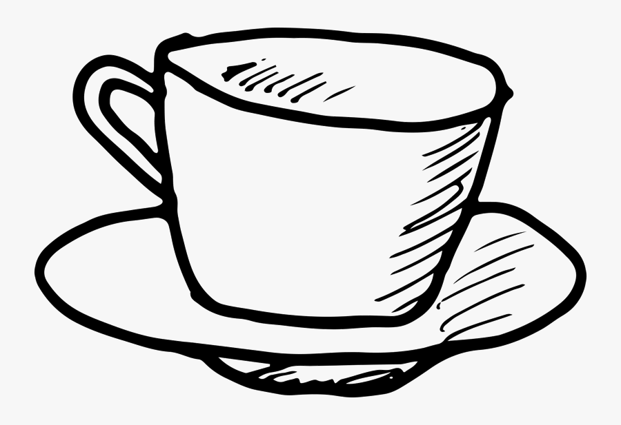 Stamp Clipart Coffee - Outline Coffee Cup Png, Transparent Clipart
