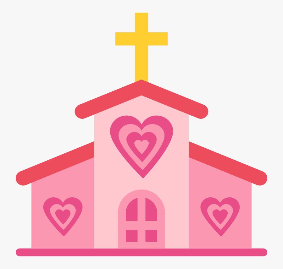Pink,heart,organ - Church With Heart Clipart, Transparent Clipart