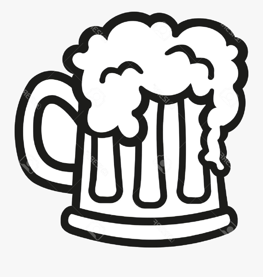 Beer Top Glass Clip Art Black And White Cdr Free Vector - Beer Black And White Cheers, Transparent Clipart