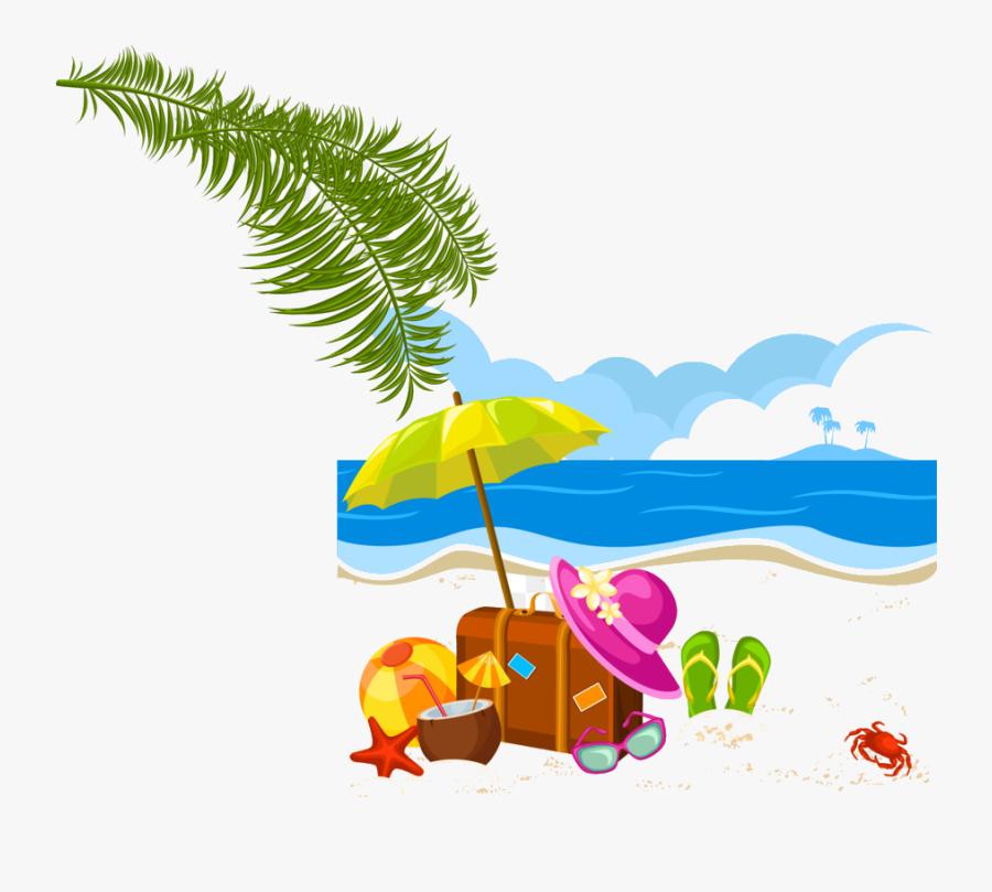 Holiday Summer Vacation Clip Art Vector Beach Transparent - Transparent Background Summer Clipart, Transparent Clipart