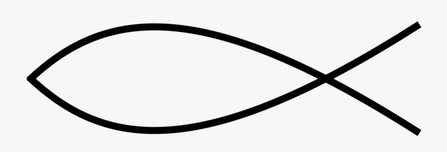 Christian Fish Thin Line Transparent Png - Fish Christian Symbols, Transparent Clipart