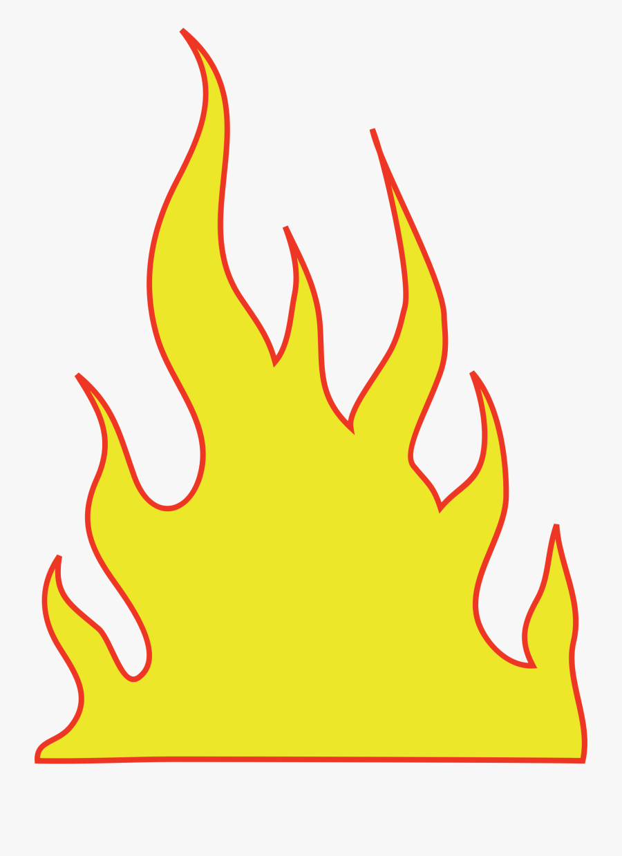 Free Flame Clipart - Yellow Flames, Transparent Clipart