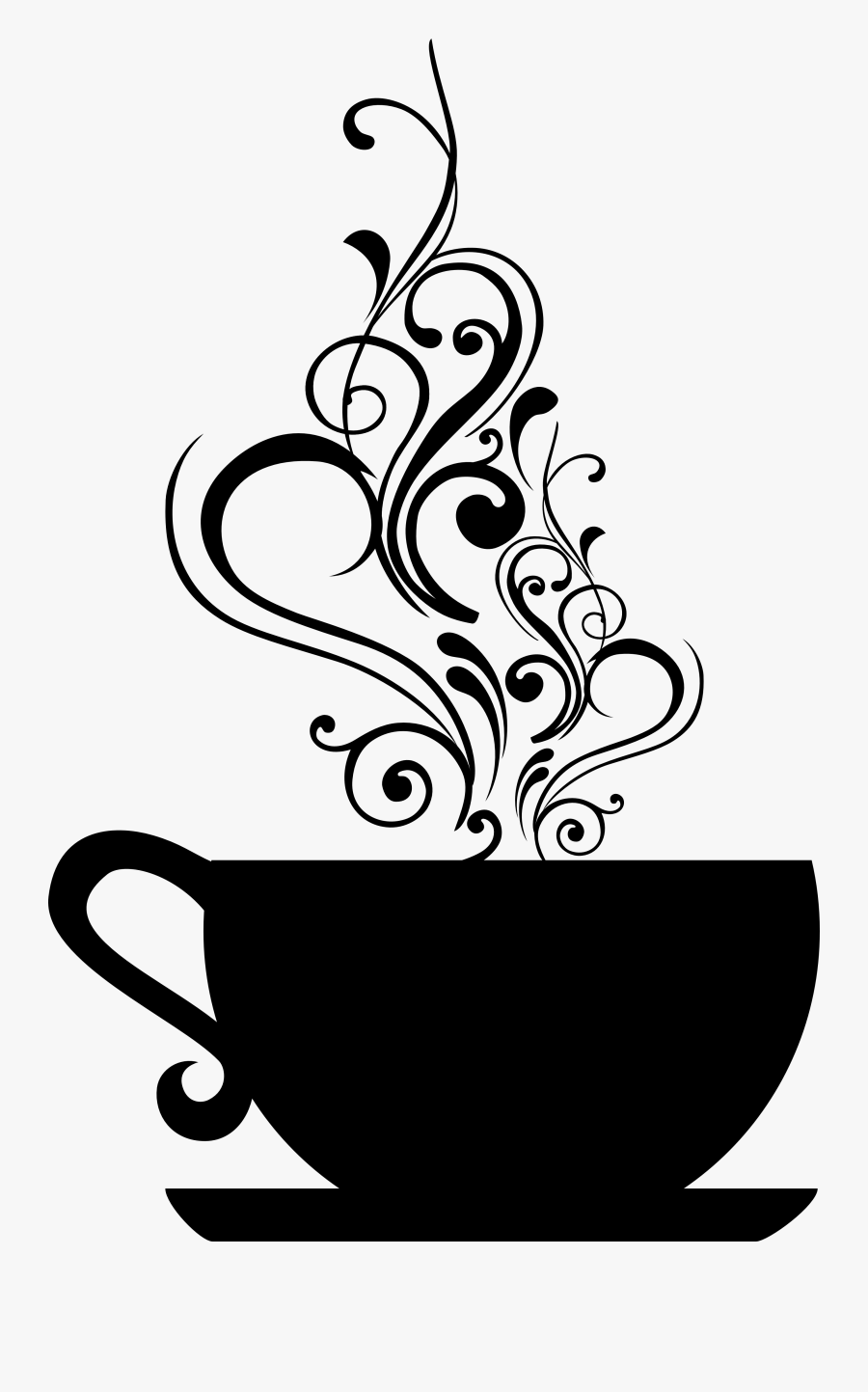 Coffee Cup Drawing Free At Getdrawings Black And White Tea Cup Free Transparent Clipart Clipartkey