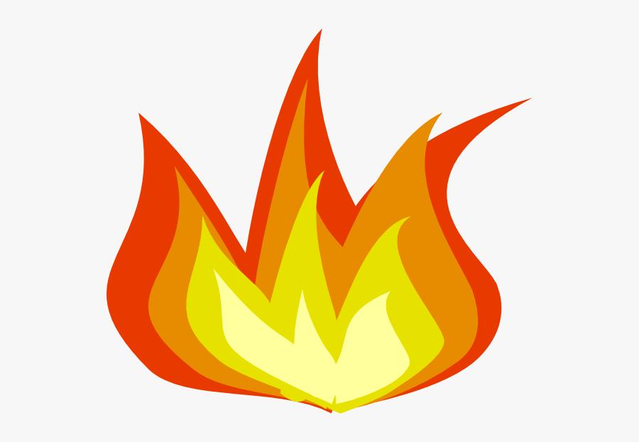 Rocket Flame Clipart - Transparent Background Flame Clipart, Transparent Clipart