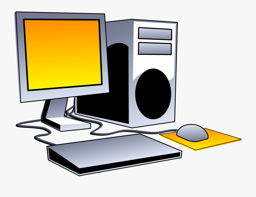 Desktop Computer Clip Art - Transparent Background Computer Clipart Png, Transparent Clipart