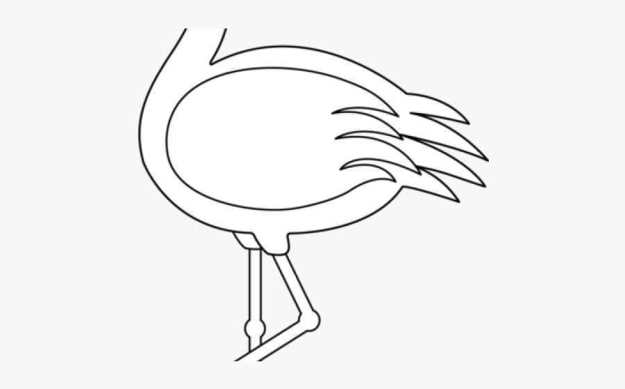 Flamingo Clipart Beak - Drawing, Transparent Clipart