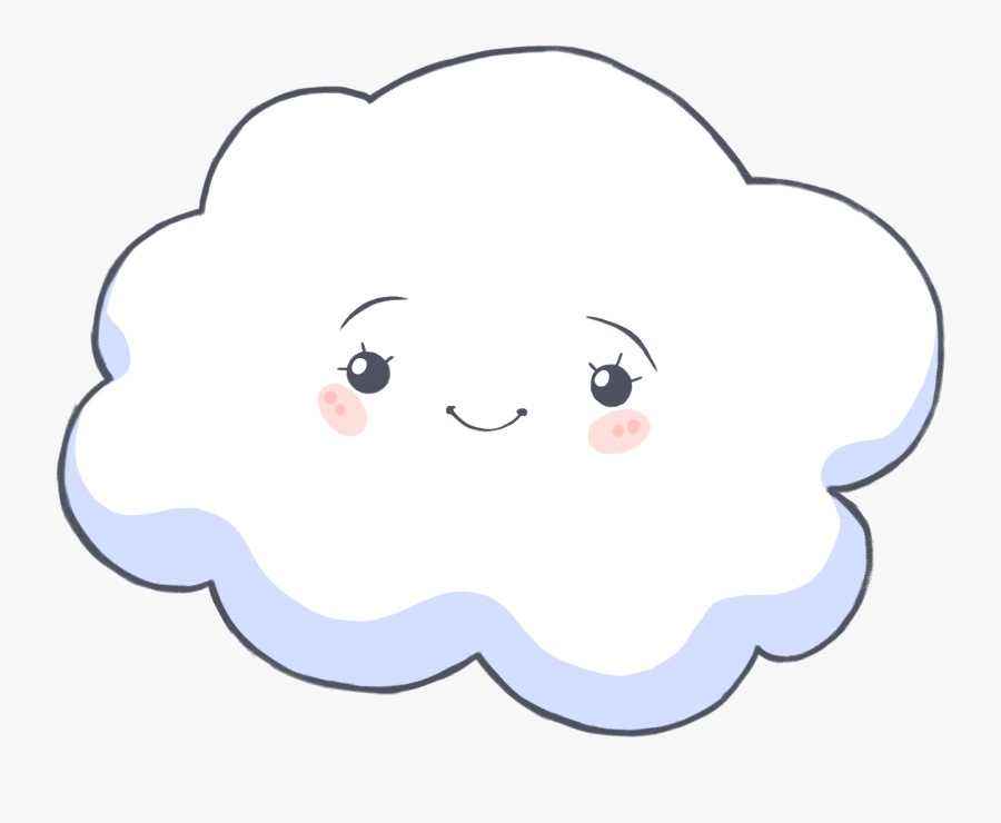 Cloud Cliparts For Free Clouds Clipart Face And Use - Cloud With A Face, Transparent Clipart